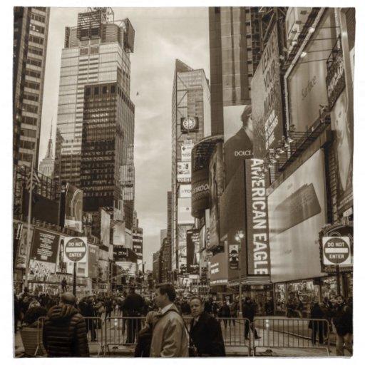 Times Square, foto de New York City Servilleta Imprimida