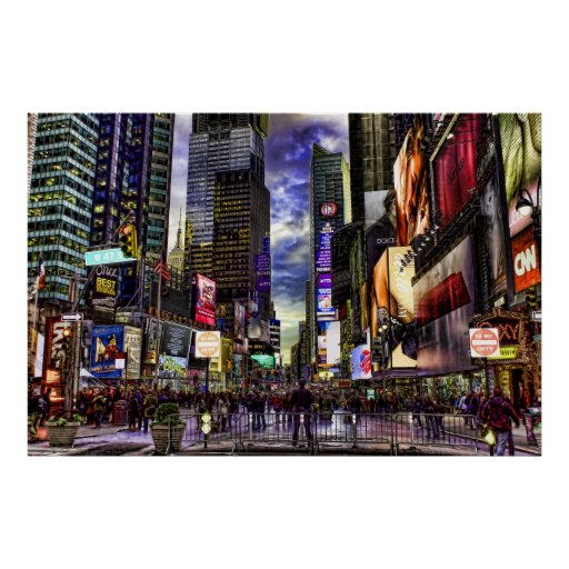 Times Square HDR Photo Poster