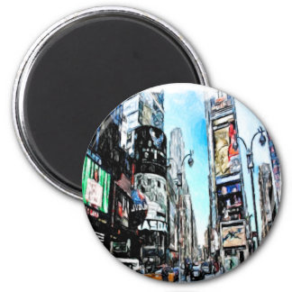 Times Square Imán Redondo 5 Cm