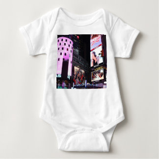 Times Square in New York City (pink) Baby Bodysuit
