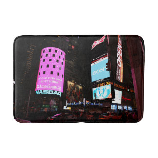 Times Square in New York City (pink) Bathroom Mat