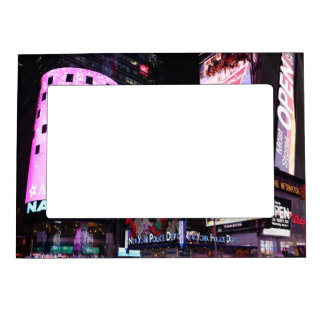 Times Square in New York City (pink) Magnetic Photo Frame