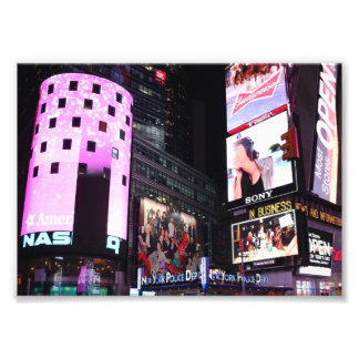 Times Square in New York City (pink) Photo Print