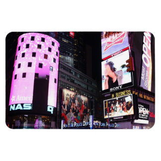 Times Square in New York City (pink) Rectangular Photo Magnet
