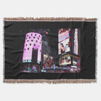Times Square in New York City (pink) Throw Blanket