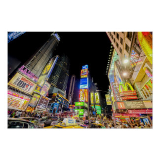 Times Square in the City that Never Sleeps Poster