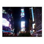 times square lights postcard