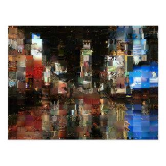 times square mosaic postcard
