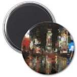 times square mosaic refrigerator magnet