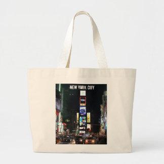 Times Square New York City Bolsa Tela Grande