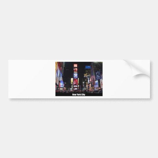 Times Square New York City Bumper Sticker