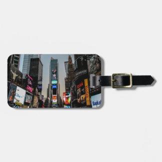 Times Square, New York City Etiqueta De Equipaje