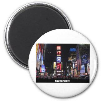 Times Square New York City Imán Redondo 5 Cm