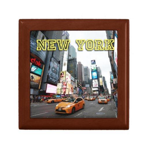 Times Square New York City los E.E.U.U. Cajas De Joyas
