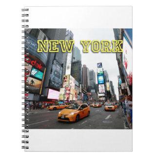 Times Square New York City los E.E.U.U. Libro De Apuntes Con Espiral