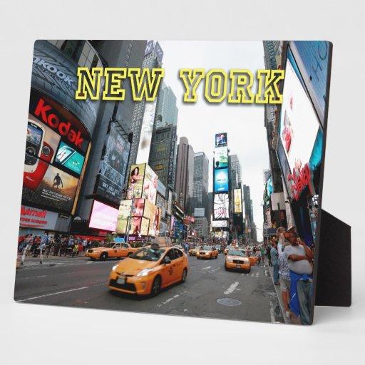 Times Square New York City los E.E.U.U. Placa Para Mostrar