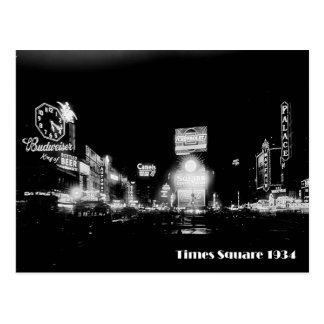 Times Square, New York City, Neon Photo From 1934 Postcard