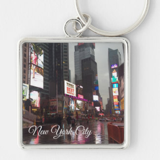 Times Square New York City NYC Neon Signs Photo Keychain