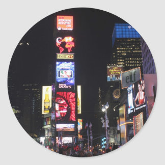 Times Square New York City Pegatina Redonda