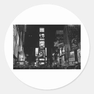 Times Square New York City Pegatinas Redondas