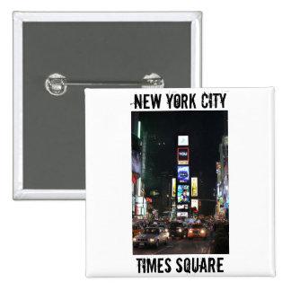 Times Square New York City Pin Cuadrada 5 Cm