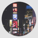 Times Square New York City Round Sticker