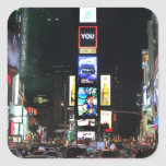 Times Square New York City Square Stickers