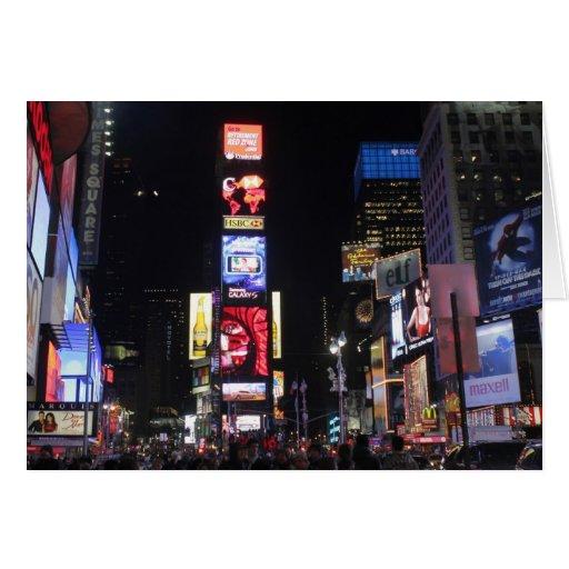 Times Square New York City Tarjeta De Felicitación