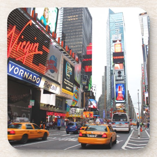 Times Square, New York City, USA Beverage Coaster