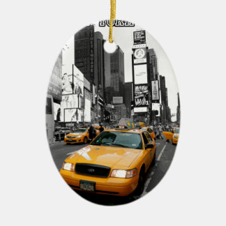 Times Square New York City USA Ceramic Ornament