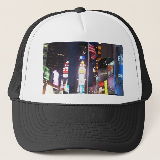 """""""Times Square, New York City, USA""""  CricketDiane A Trucker Hat"""