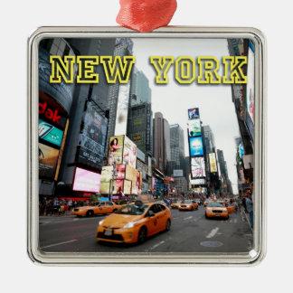 Times Square New York City USA Metal Ornament