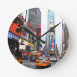 Times Square, New York City, USA Round Wall Clock