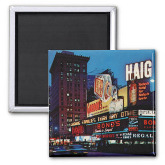 Times Square, New York City Vintage Magnet