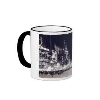 Times Square, New York City Vintage Coffee Mugs