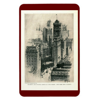 Times Square, New York City Vintage Rectangular Photo Magnet
