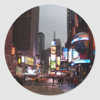Times Square New York Classic Round Sticker