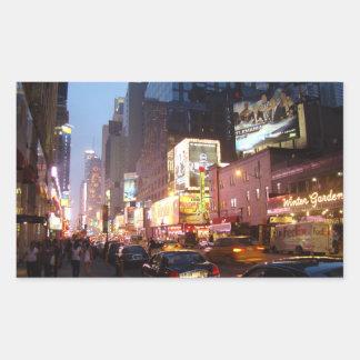 Times Square New York Rectangular Sticker