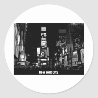 Times Square-New York Round Stickers