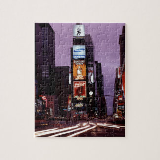 Times Square New York Skyline at Night Jigsaw Puzzles