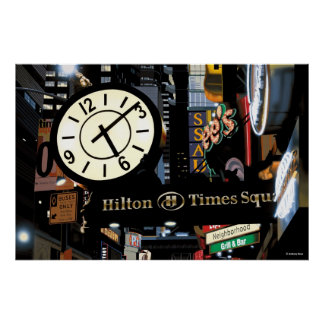 Times Square Night Poster Print