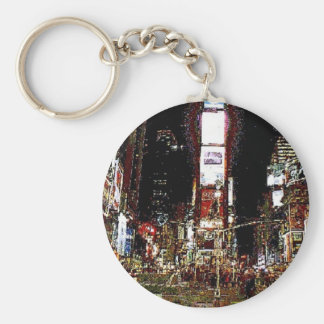 Times Square North at Night Keychain
