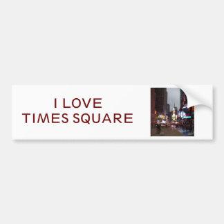 Times Square Nueva York Pegatina De Parachoque
