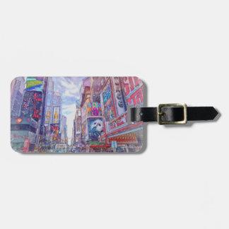Times Square Nueva York por el mac de Shawna Etiqueta Para Maleta
