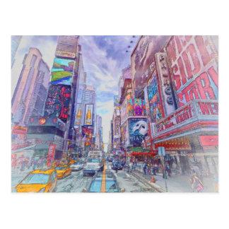 Times Square Nueva York por el mac de Shawna Tarjeta Postal