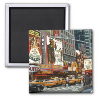 Times Square NY 2 Inch Square Magnet