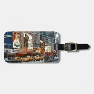 Times Square NY Etiquetas Maleta