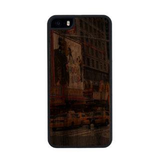 Times Square NY Funda De Madera Para iPhone 5