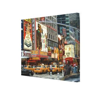 Times Square NY Lona Envuelta Para Galerías