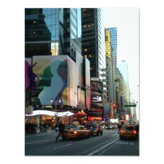 Times Square NYC 2012 4.25x5.5 Paper Invitation Card